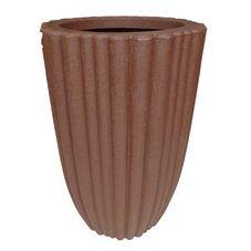 vaso plastico veneza coluna bambu marrom