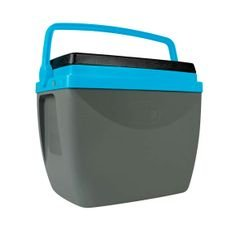 caixa termica mor cinza azul nova